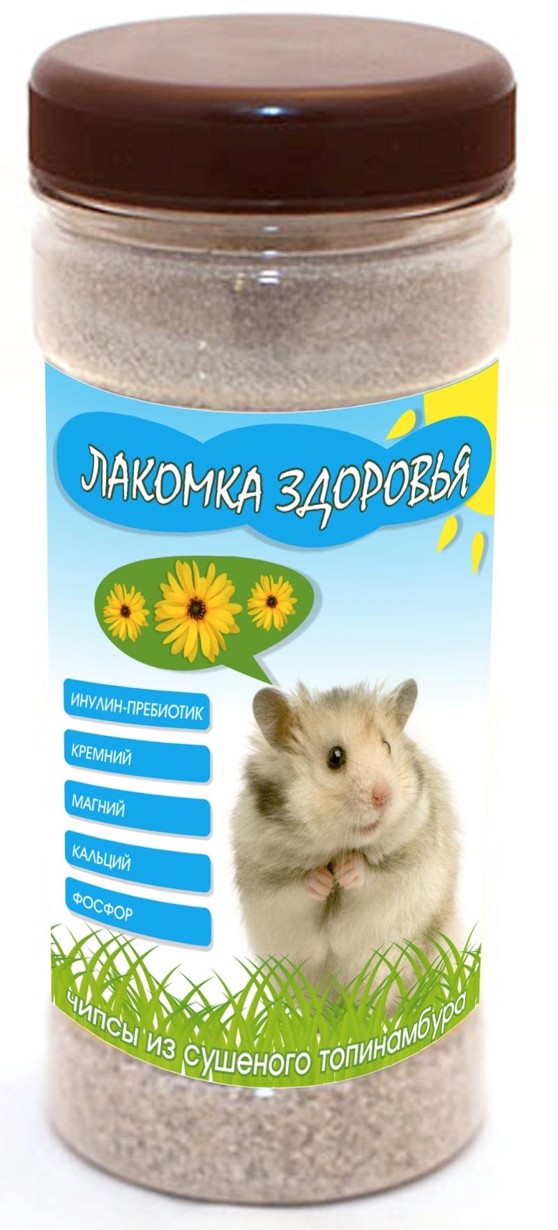 Дизайн этикетки на ПЭТ-банку лакомства для домашних грызунов фото f_37353a7f0781321a.jpg