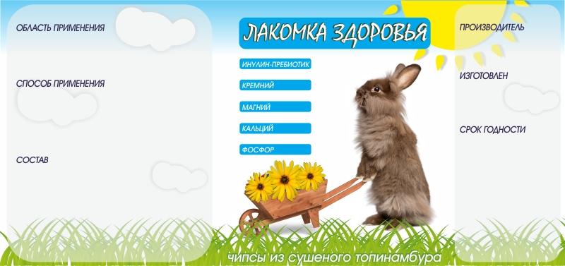 Дизайн этикетки на ПЭТ-банку лакомства для домашних грызунов фото f_83453a94268c98c8.jpg