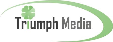 Разработка логотипа  TRIUMPH MEDIA с изображением клевера фото f_50708043eb982.jpg