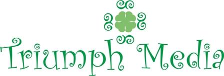 Разработка логотипа  TRIUMPH MEDIA с изображением клевера фото f_50708c2d61ee3.jpg