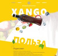 2017 год. Сок Xango Дизайн landing page в Photoshop