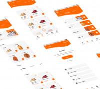 2020. Дизайн-концепция мобильного приложения в Figma. SLAMDUNK Спорт товары.