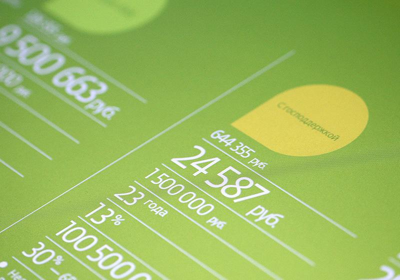Мультитач интерфейс. Двухэкранный кредитный калькулятор.
