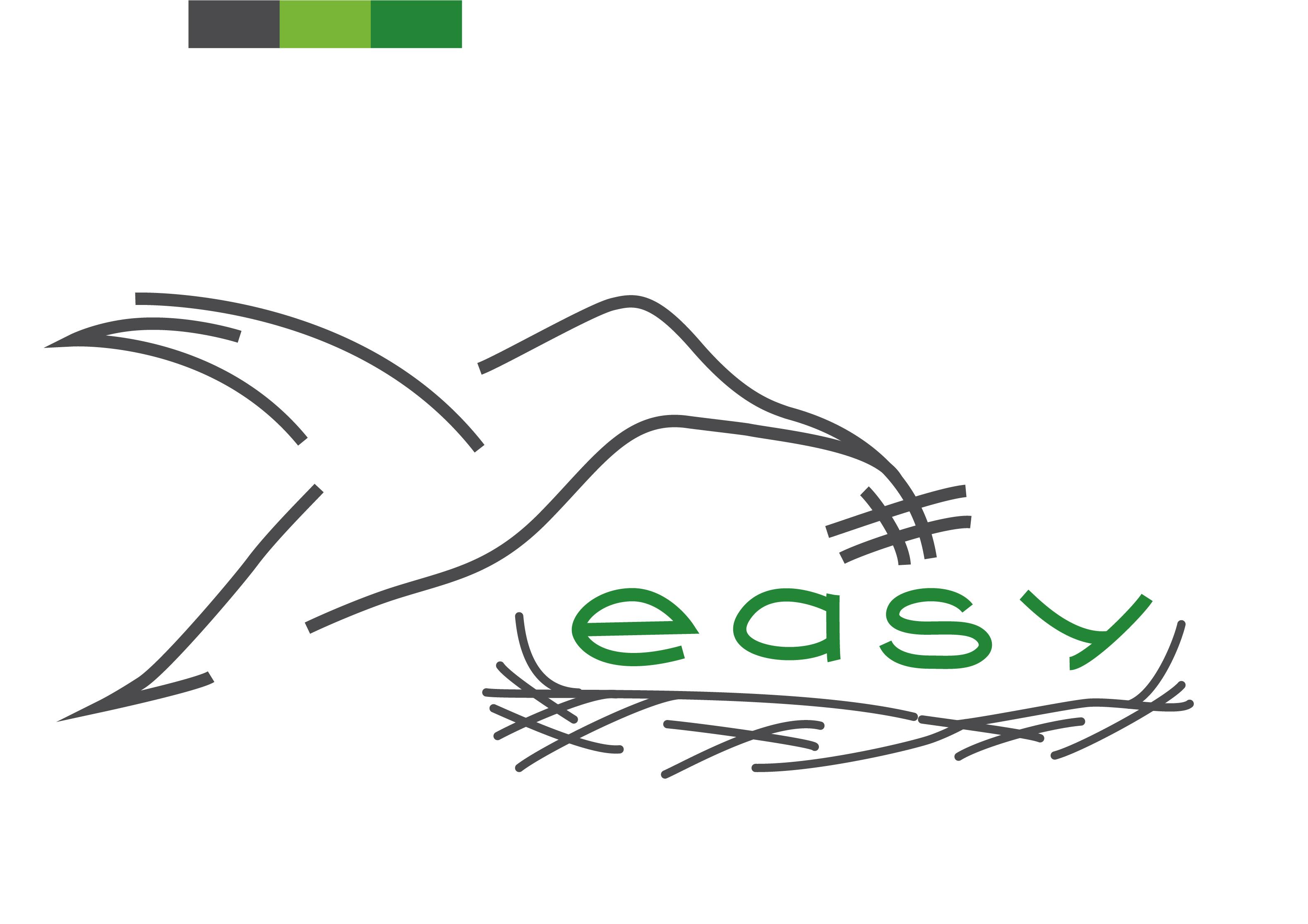 Разработка логотипа в виде хэштега #easy с зеленой колибри  фото f_8395d518e5d19e41.jpg