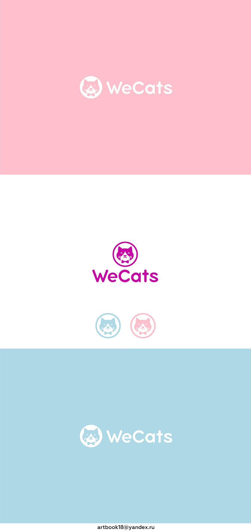 Создание логотипа WeCats фото f_2935f1da817a43d9.jpg