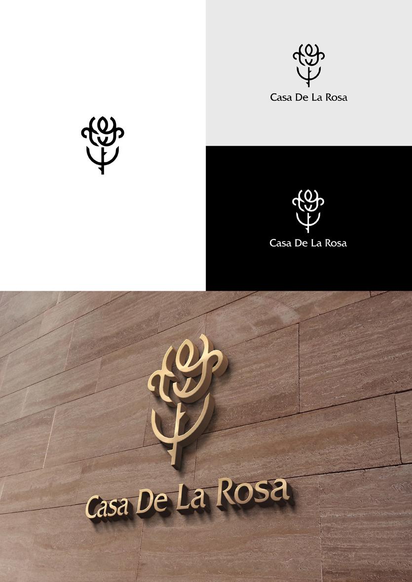 Логотип + Фирменный знак для элитного поселка Casa De La Rosa фото f_7175cd675a465069.jpg