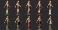 Разная одежда боксеров для второй версии игры Тайский бокс (ZBrush)