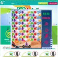 Игровое поле для игры Пузырики