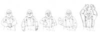 Эскизы персонажа для игры Full Flow