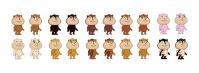 Расцветка персонажей в игре Хомячки