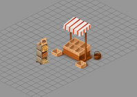 Овощной лоток и коробки с хлебом (аналог ChefVille)