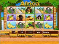 Интерфейс слот-автомата Африка