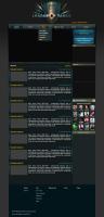 Новый дизайн сайта для игры Лига танков
