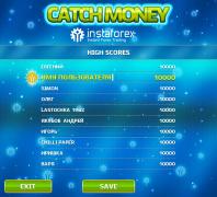 Страница Рейтинг для игры Catch Money