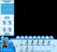 Интерфейс для аналога Sims