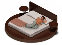 Анимация мужчины на кровати (аналог Sims)