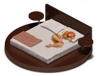 Женщина на кровати (аналог Sims)