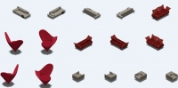 Кресла и диваны для аналога игры Sims