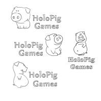 Эскизы для логотипа HoloPig Games