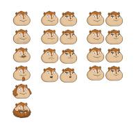 Лица персонажей в игре Хомячки