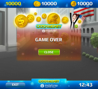Окошко Game Over для игры Catch Money