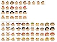 Причёски персонажей в игре Хомячки