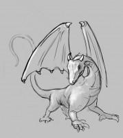 Эскиз дракона для последующей 3д модели