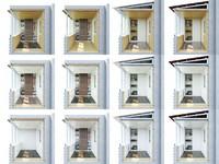 3d моделинг и визуализация схемы отделки балконов для сайта