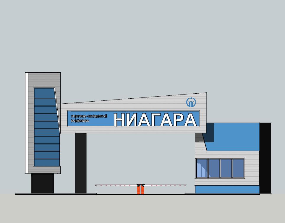 Дизайн Входной группы Торгово Складского Комлекса фото f_68752ea758bba7bc.jpg