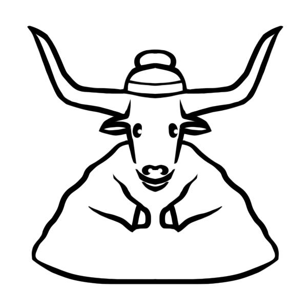 Создать рисунки быков, символа 2021 года, для реализации в м фото f_5195ee4dd0573b37.png