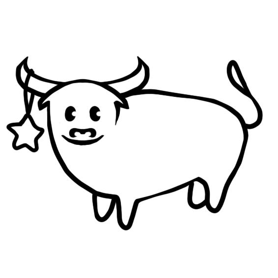 Создать рисунки быков, символа 2021 года, для реализации в м фото f_5455ef07bf771560.png