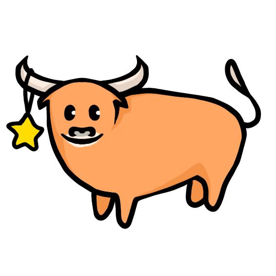 Создать рисунки быков, символа 2021 года, для реализации в м фото f_5595ef07bb441841.png