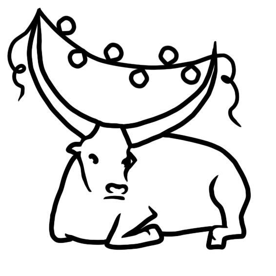 Создать рисунки быков, символа 2021 года, для реализации в м фото f_9545ef9ac00970f5.png