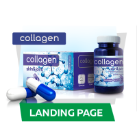 Responsive верстка лендинга Collagen