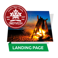 ONEFIVEOH - Canada's Online Campfire (Адаптивная landing-page)