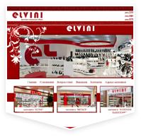Вёрстка сайта визитки elvini.ru
