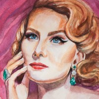 Портрет Рената Литвинова (акварель)