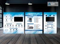 Рекламный стенд системы видеонаблюдения