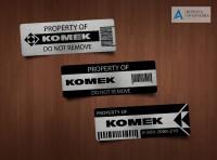 Наклейки Komek