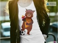 Принт для женской футболки