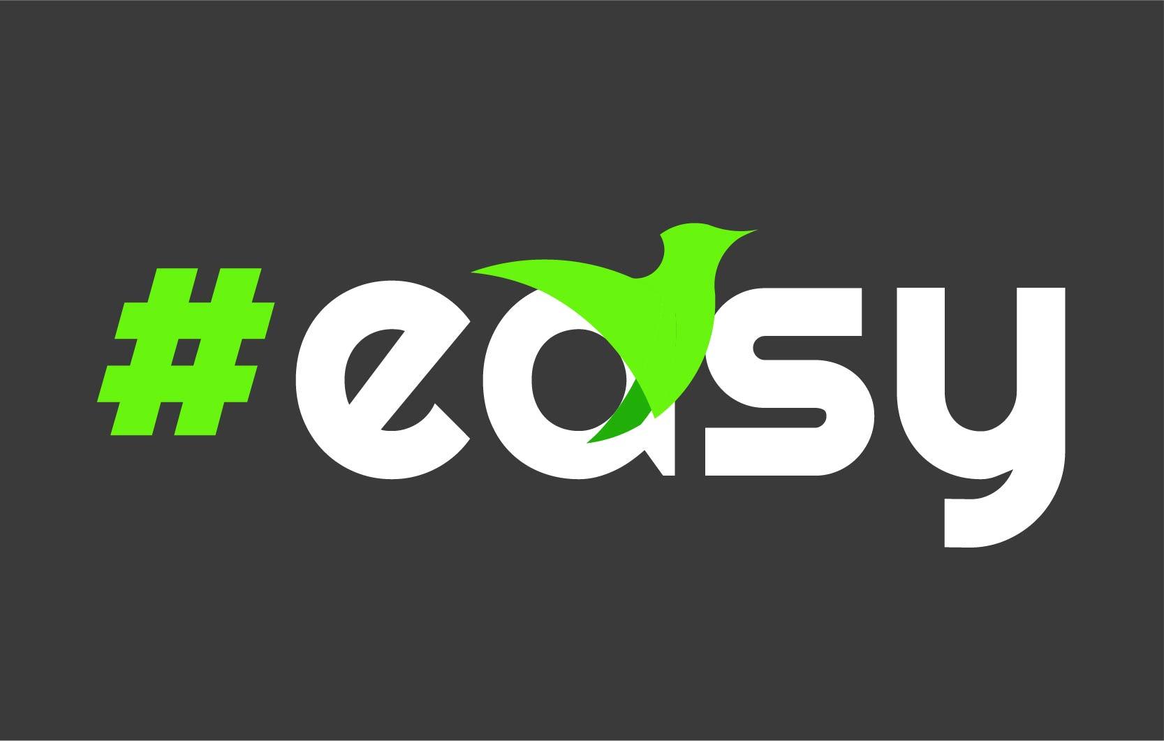 Разработка логотипа в виде хэштега #easy с зеленой колибри  фото f_6085d513dad68985.jpg