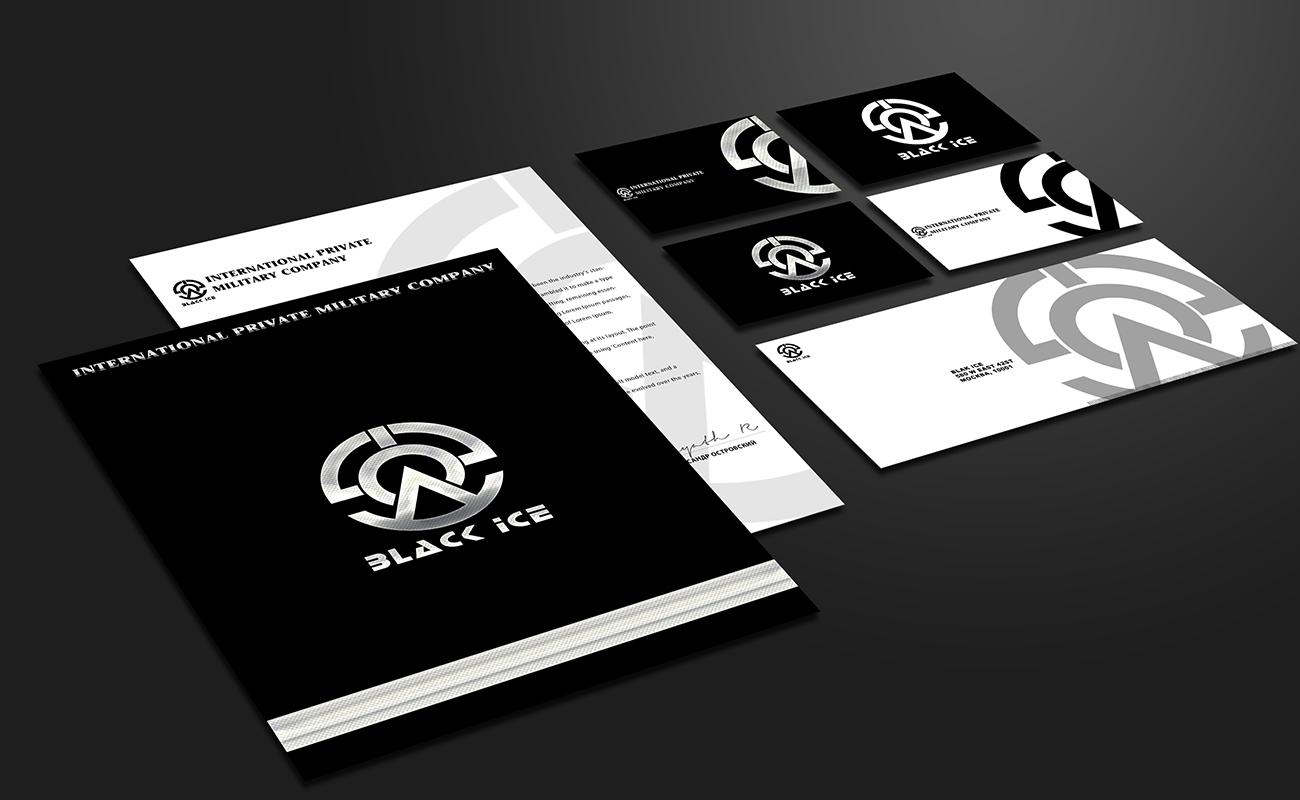 "Логотип + Фирменный стиль для компании ""BLACK ICE"" фото f_25256e8615d2d11a.jpg"