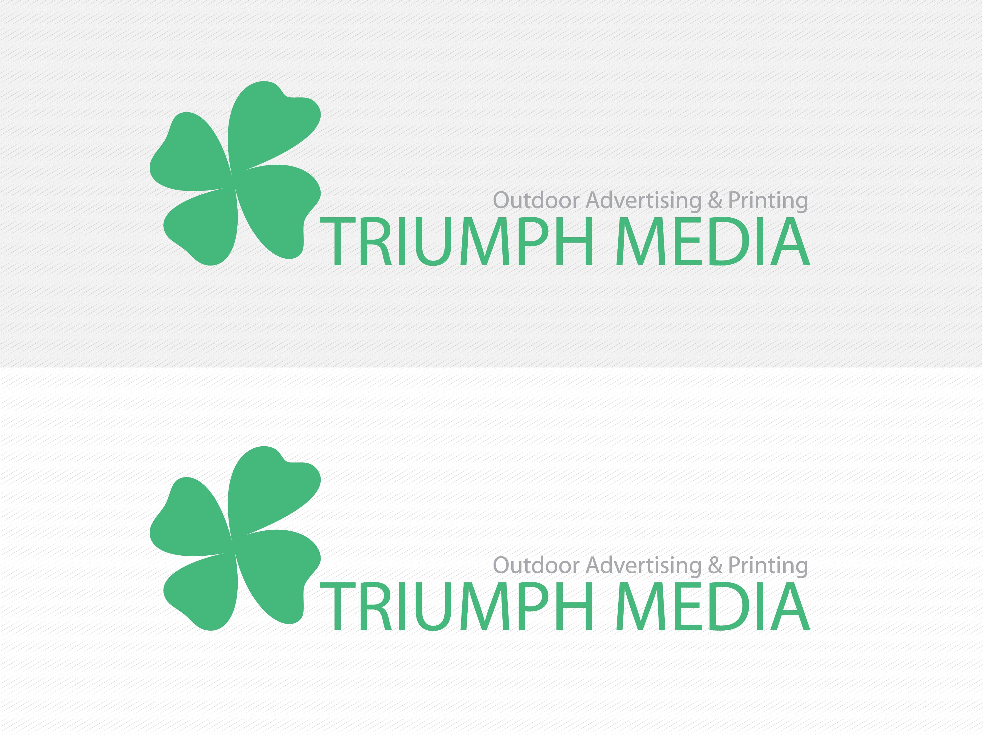 Разработка логотипа  TRIUMPH MEDIA с изображением клевера фото f_50718a0c22b5a.png