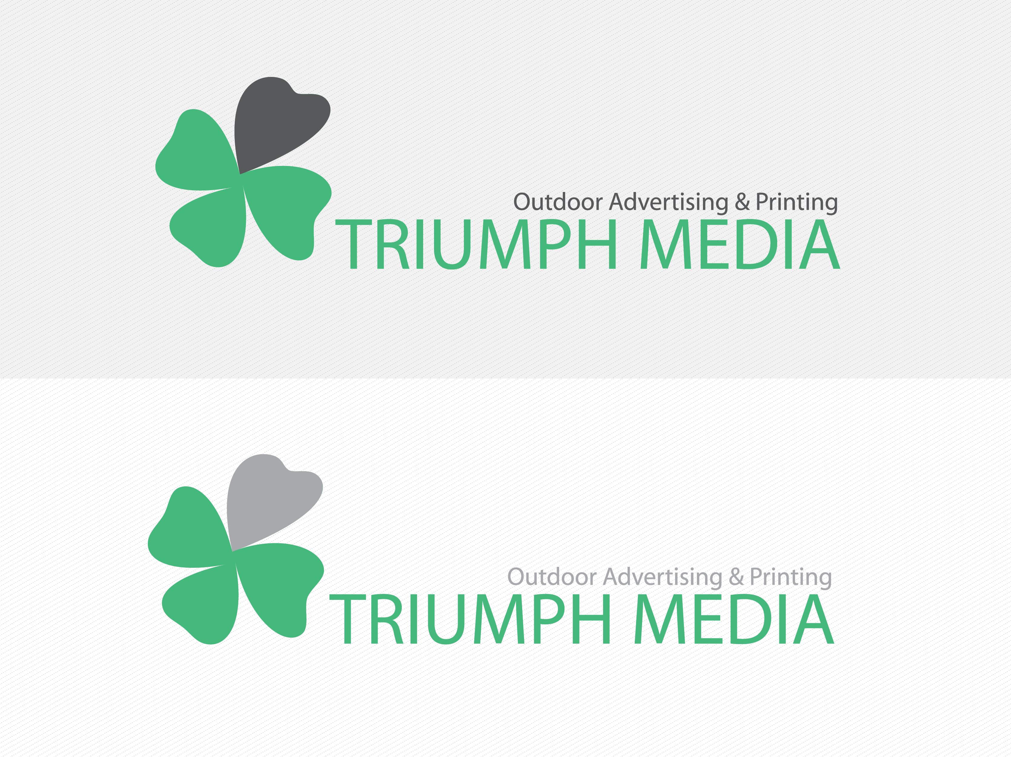 Разработка логотипа  TRIUMPH MEDIA с изображением клевера фото f_50718a0eca34a.png