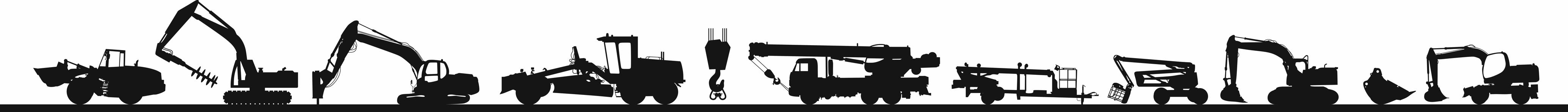 Дорожно-строительная техника. Контуры.