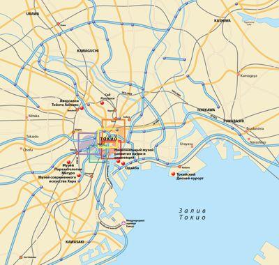 Токио карта окрестностей