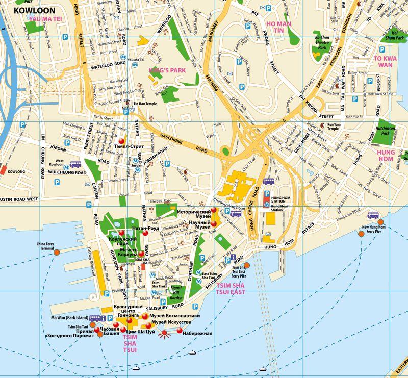 Гонконг фрагмент карты города