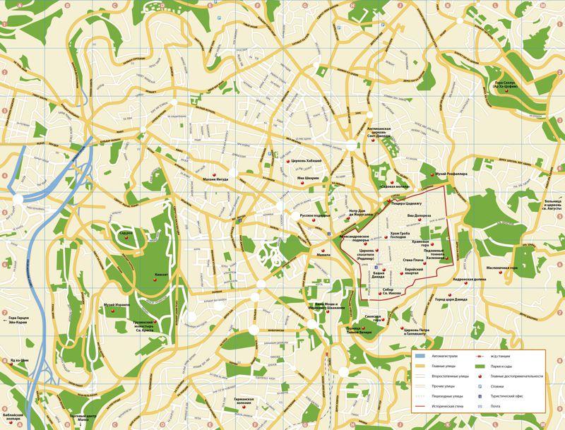 Иерусалим карта города