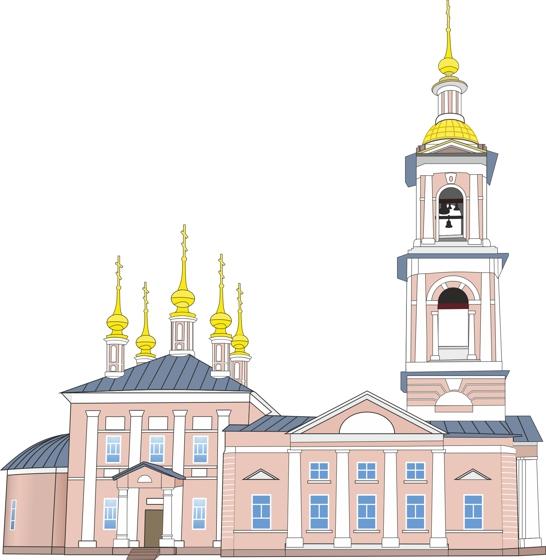 Храм (отрисовка в векторе)