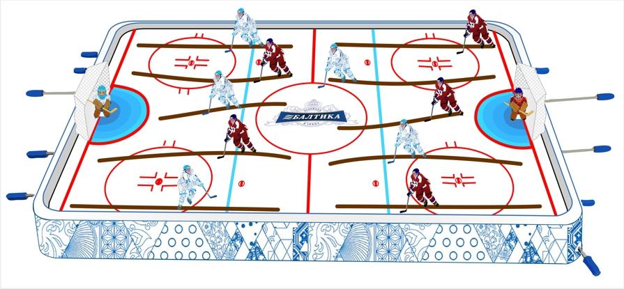 Настольный хоккей (вектор)